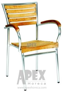 Garden Furniture - Aluminum Teak Chair (AS1018AWW) pictures & photos