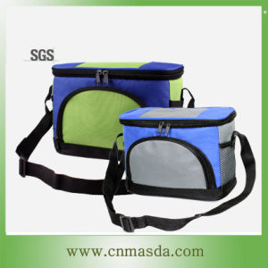 600D Mini Lunch Bag (WS13B101C-GREEY/GREEN)