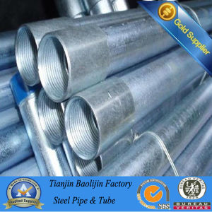 Bs 1387 Galvanized Steel Pipe with Threads on Both Ends pictures & photos