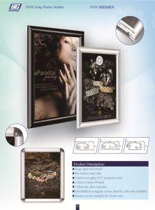 25mm Snap Poster Frame/Holder Photo Frame advertising