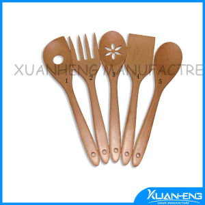 Fashion Wooden Clapper Slotted Spoon pictures & photos
