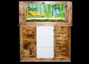 Log Screen Decoration Aquariums, Fish Tank (1530*1530*400mm)
