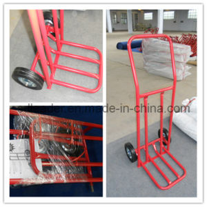High Quality Metal Folding Solid Tyres Hand Trolley (HT2011)
