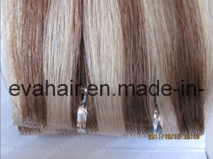 100% Remy Hair PU Skin Weft pictures & photos