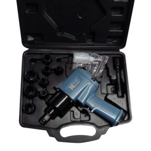 "1/2"" Twin Hammer Air Impact Wrench Kit Air Tools Kit with Handle Exhaust"