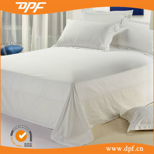 300tc White Wholesale Hotel Flat Sheet (DPFB8049) pictures & photos