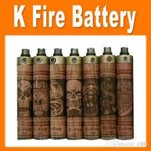 K Fire E Cig Wooden Mod Variable Voltage E-Fire/X-Fire Battery, Wood Tube Battery