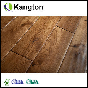 Hand Scraped Solid Oak Wood Flooring (wood flooring) pictures & photos