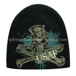 Acrylic Print Embroidery Warm Sport Ski Knitted Beanie (TRK003B) pictures & photos