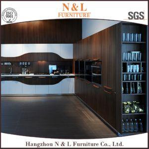 Dark Color Home Furniture, Wood Veneer Kitchen Units pictures & photos