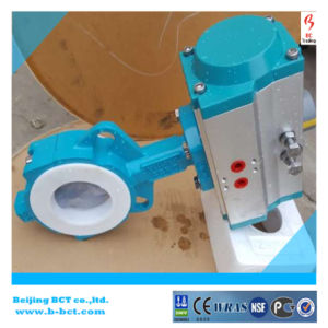 PTFE Liner Butterfly Valve, PTFE Coating Disc Bfv Bct-F4bfv-2 pictures & photos