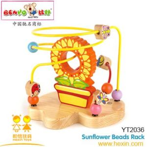 Wooden Toy-Sunflower Beads Rack (YT2036)