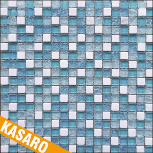 Small Square Mosaic Tiles, Glass and Stone Mosaic Cracked Crystal Glass Mosaic (KSL-201320)