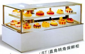 Right Angle Corner Cake Display Showcase (AT-1500/1800/2000) pictures & photos