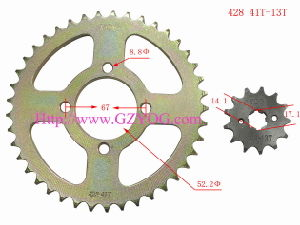 Yog Pinon PARA Tvs Star Motorcycle Sprocket Kit pictures & photos
