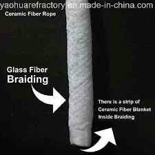 Yaohua Wool Ceramic Fiber Rope - 50 mm - (Glass Fiber Braided) - 1100° F - 1 Meter pictures & photos