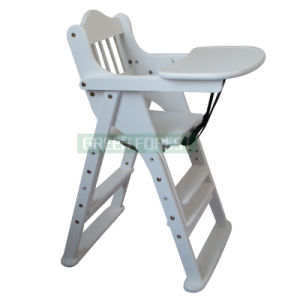 White Wood Children Dining Chair