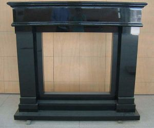 Black Granite Fireplace (GF-2)