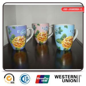 Flower Design Porcelain Mug for Coffee