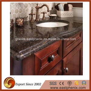 Black Quartz Stone Vanity Top for Bathroom pictures & photos