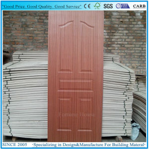 Door Skin Plywood EV Wenge/Dark Walnut Veneer Moulded Door Panel pictures & photos