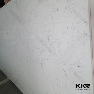 Kkr High Quality 30mm White Veins Grey Quartz Stone pictures & photos