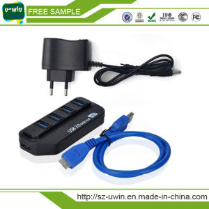 Promotion Gift 4 Port 2.0 USB Hub with Switch pictures & photos