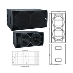 Dual 18 Speaker Box Subbass China Sub Woofers+Stage Sub -Bass pictures & photos