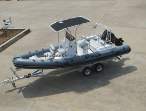 Aqualand 21.5FT 6.5m Rigid Inflatable Sports Boat/Rescue Boat/Fishing Boat (RIB650B) pictures & photos
