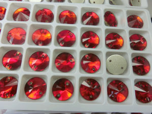 Red Light Siam Flat Back Buttons Sewing Buttons for Dress pictures & photos