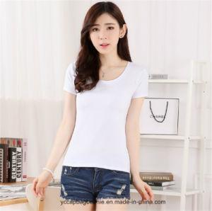 Custom Wholesale 95% Cotton 5% Spandex T Shirt pictures & photos