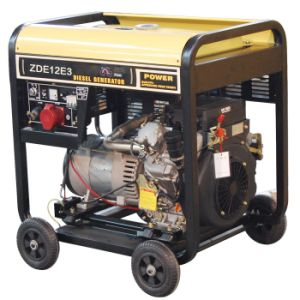 10kVA Three Phase Portable Diesel Generator with 4 Wheels (ZDE12E3) pictures & photos