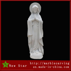 Marble Figure Our Lady Stone Virgin Mary Statue pictures & photos
