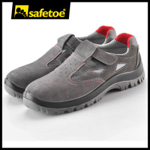 Basic Economic Ce Safety Shoes with Toe Cap L-7216 Suede pictures & photos