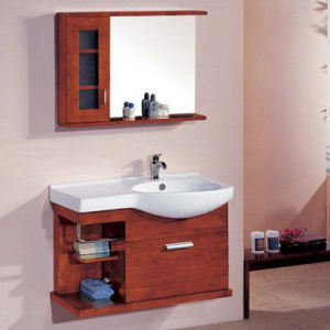 Solid Wood Bathroom Cabinet Classical Bathroom Vanity (ADS-646) pictures & photos