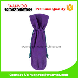 Wholesale Promotional Drawstring Packaging Velvet Fabric Pouch pictures & photos