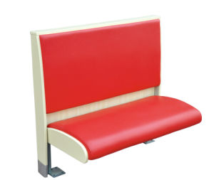 Red Color PU Leather One Side Booth Sofa pictures & photos