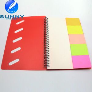 Hot Sale Spiral Notebook with Sticky Memo Pad pictures & photos