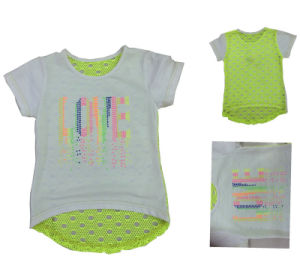 Cute Cat Kids Girl T-Shirt in Children′s Wear Clothes Sgt-077 pictures & photos