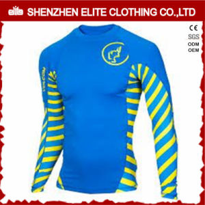 2016 Summer Wholesale Surfing Blue Rash Guards for Boys pictures & photos
