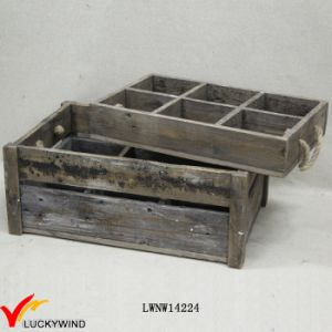 Countryside Stained Drink Bottle Wooden Slat Crate pictures & photos