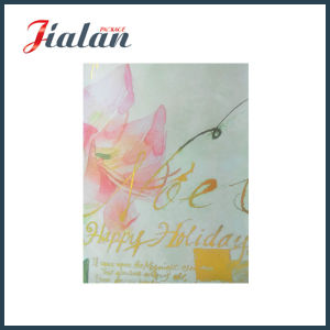 Both Sides Gold Foil Nice Flower Design Paper Bag with Tag pictures & photos