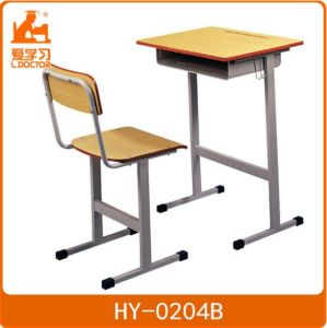 Student Studying Wood Table Chair for Primary School pictures & photos