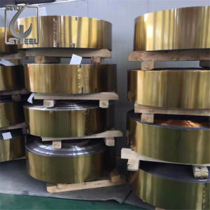 0.5mm Food Can Package Golden Lacquered Tinplate Coil pictures & photos