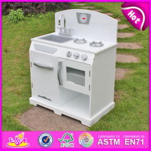 2015 Modern White Wooden Kitchen Toy Set, DIY Wooden Toy Kitchen for Kids, Pretend Play Children Wooden Kitchen Set Toy W10c134b pictures & photos