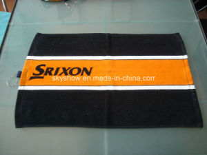 100% Cotton Custom Printed Golf Towel with Hook (SST1508) pictures & photos