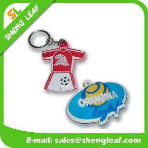 China Supplier Custom Rubber Soft PVC Key Chain (SLF-KC033) pictures & photos