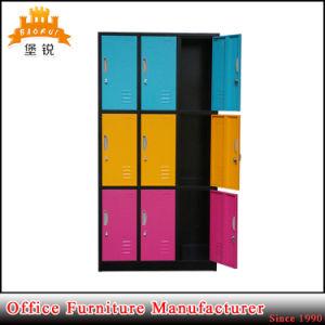 Jas-030 Hot Sale Steel Metal 3 Tier 9 Door Clothes Locker Wardrobe pictures & photos