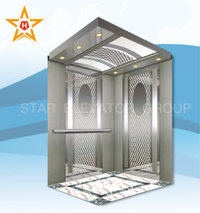 Commercial Passenger Elevator with Etching & Mirror Stainless pictures & photos