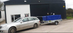 Galvanized Box Trailer with PVC Tarp pictures & photos